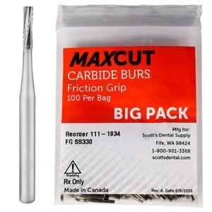 Cross Cut Straight Fissure FG Carbide Burs MaXcut