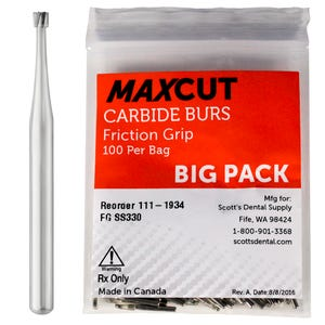 Inverted Cone FG Carbide Burs MaXcut
