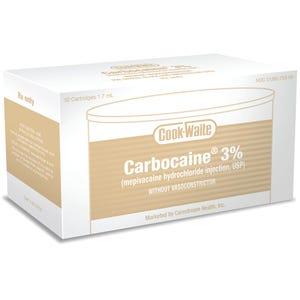 Carbocaine 3% Plain Cooke-Waite